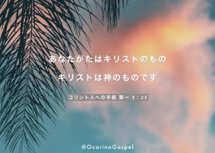 新約 コリント人への手紙 第一 3章 23節