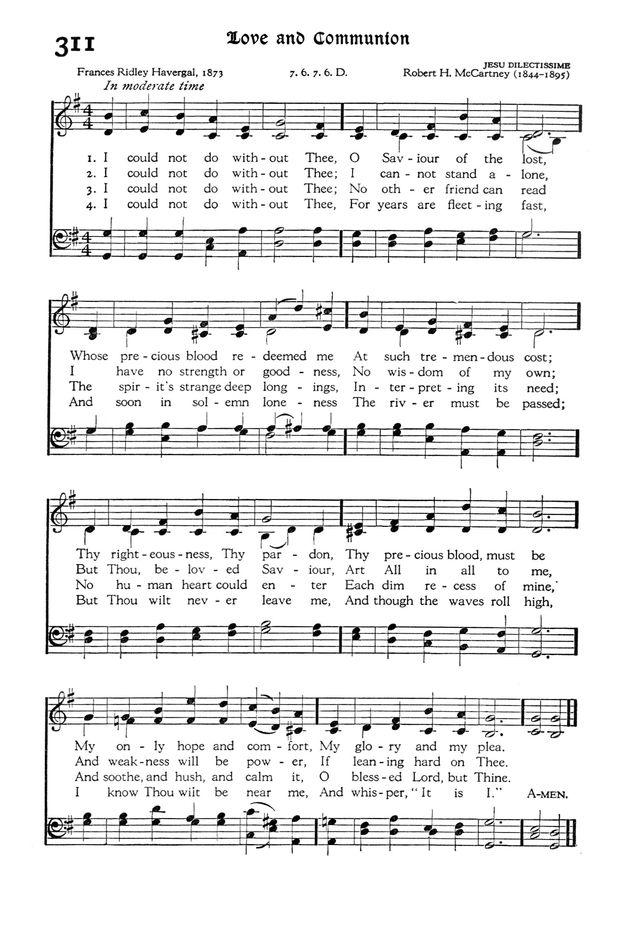 主イエスなしには  英語 楽譜