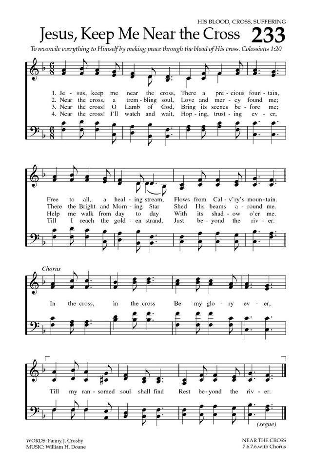 イエス我がために 英語 楽譜 Jesus Keep Me Near the Cross