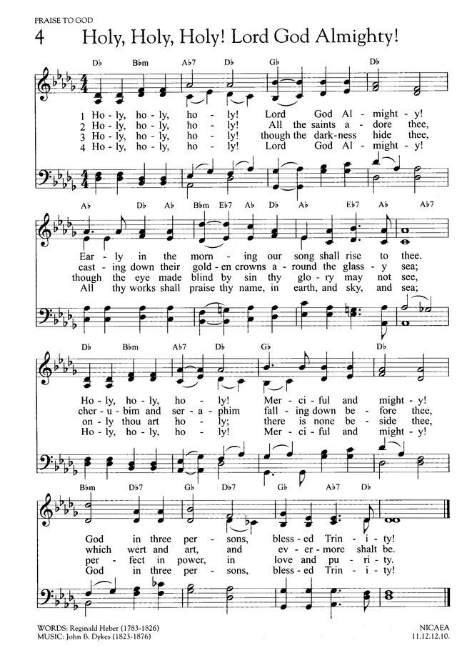 聖なる聖なる聖なるかな 英語 楽譜
